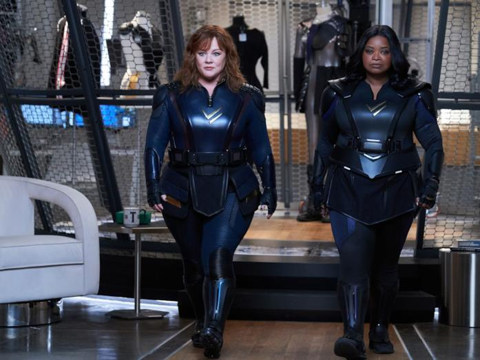 Melissa McCarthy e Octavia Spencer in una scena di Thunder Force