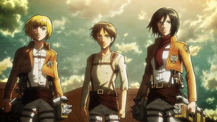 Eren Mikasa Armin
