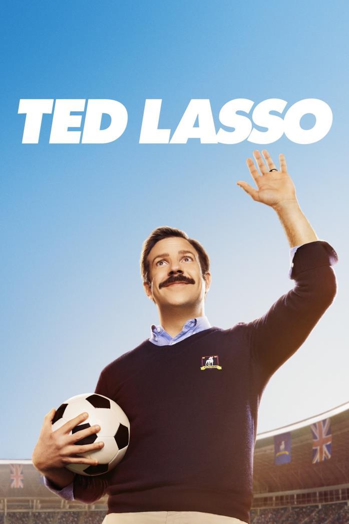 Jason Sudeikis nella locandina di Ted Lasso
