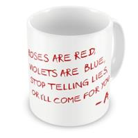 "Tazza ""Roses Are Red"""