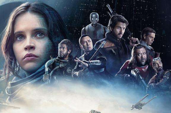 I protagonisti di Rogue One nel poster promozionale del film