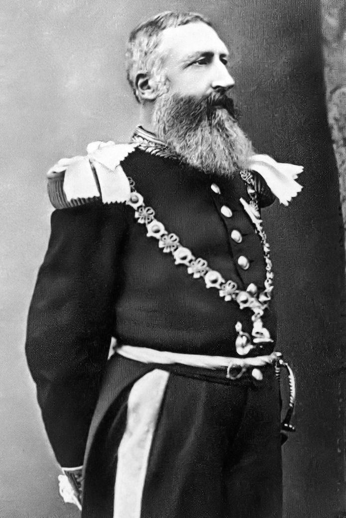 Leopoldo II del Belgio in primo piano