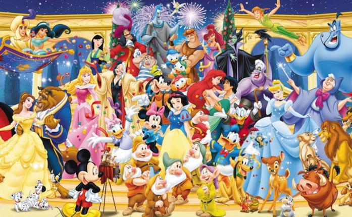 Personaggi Disney, immagine con tutti quelli più famosi