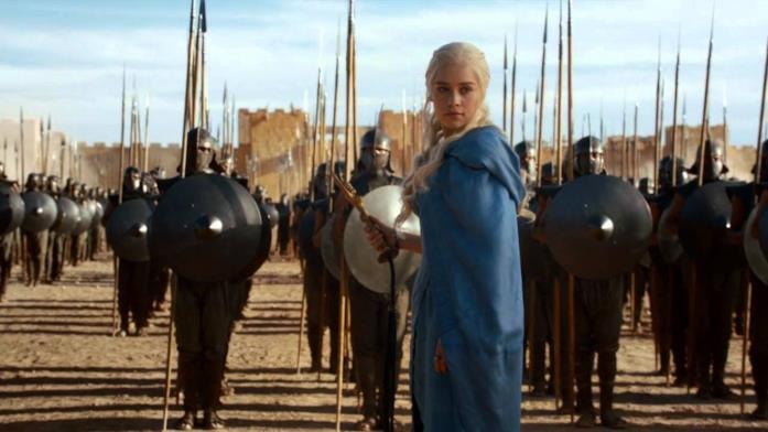 Emilia Clarke è Daenerys Targaryen in Game of Thrones
