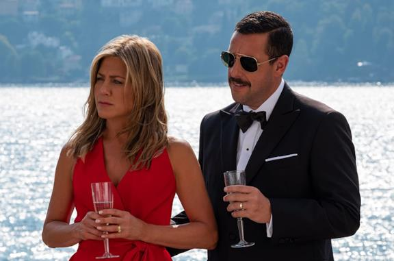 Adam Sandler e Jennifer Aniston in Murder Mystery