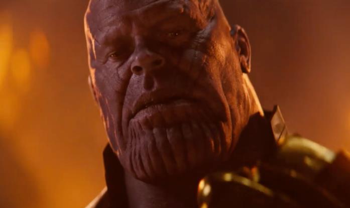 Josh Brolin come Thanos in Avengers: Infinity War