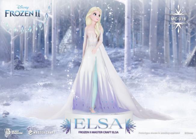 La statua 3D di Elsa di Frozen 2 frontale