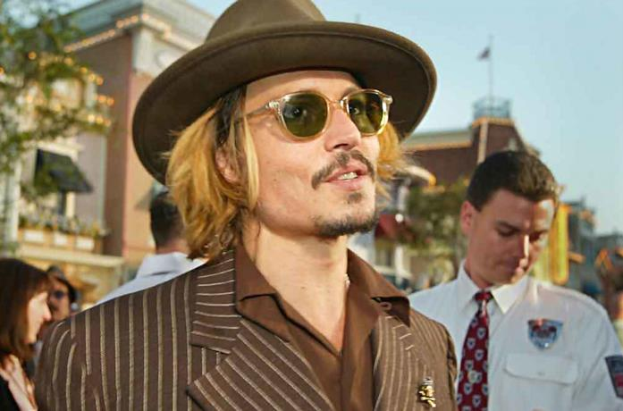 Johnny Depp a un evento pubblico
