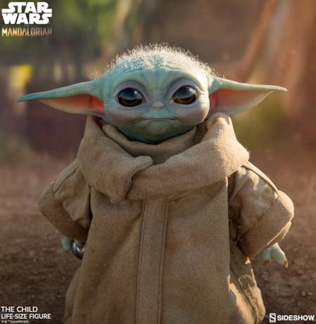 Il volto di Baby Yoda