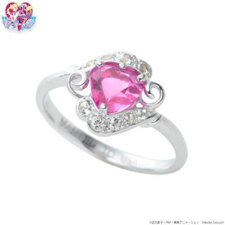I particolari dell'anello di Sailor Moon