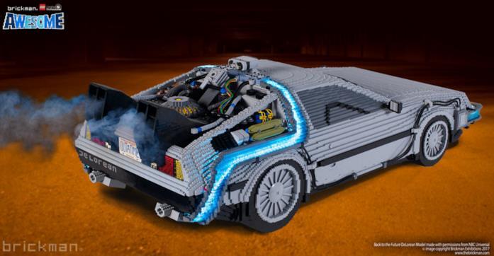 Una DeLorena funzionante costruista con i mattoncini LEGO