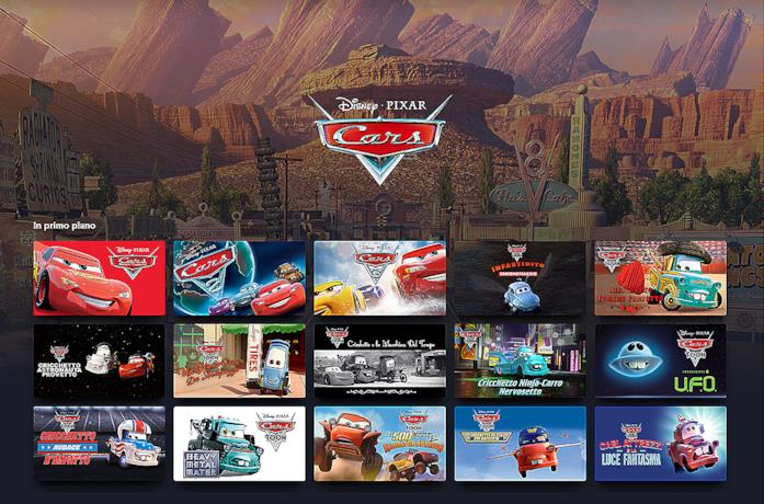 Cars: tutta la collezione di Film e Serie Tv presente su Disney+