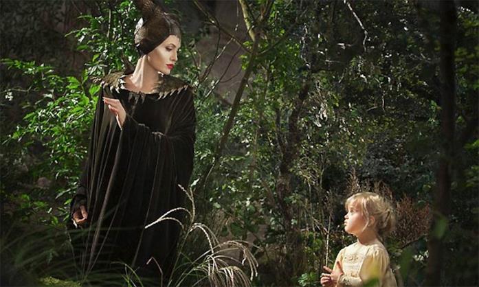 Angelina Jolie in una scena da Maleficent (2014) di Robert Stromberg