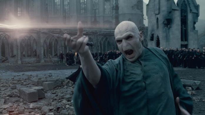 Voldemort durante lo scontro finale con Harry