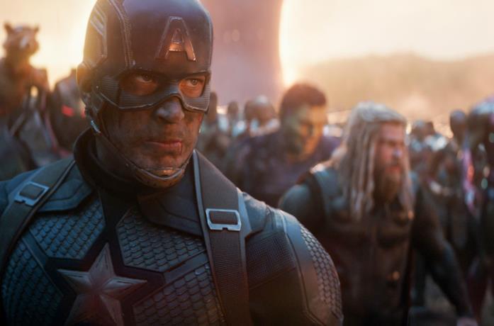 Un'immagine di Captain America in Avengers: Endgame
