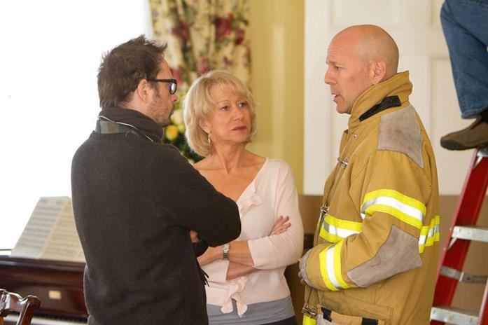 Il regista Robert Schwentke con Helen Mirren e Bruce Willis