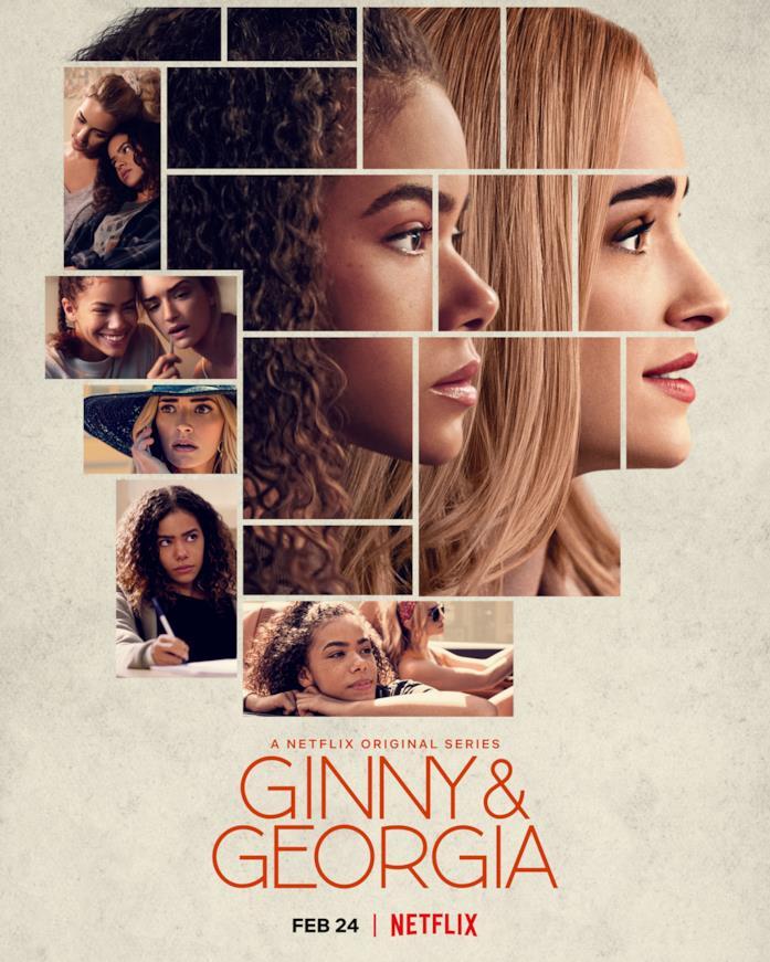 Il cast nella locandina di Ginny & Georgia