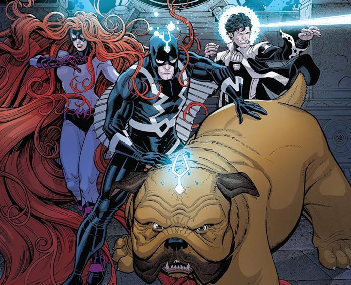 Dettaglio della cover di Inhumans: Once And Future Kings