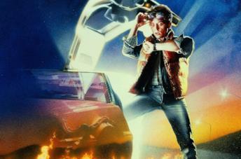 Marty e la DeLorean di Ritorno al Futuro