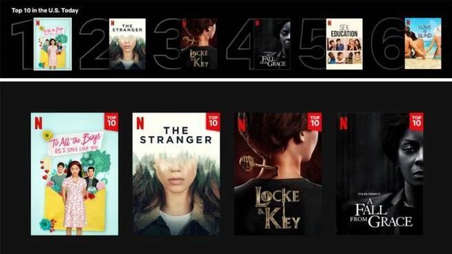 Netflix aggiunge le Top 10 di film e serie TV in ogni Paese