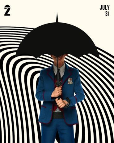 Il character poster di Umbrella Academy 2 con Numero 5