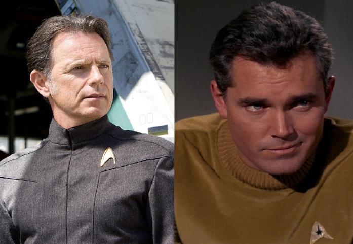 Bruce Greenwood e Jeffrey Hunter in Star Trek
