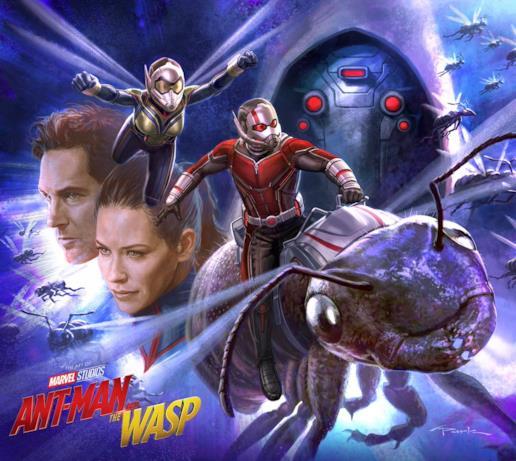Ant-Man e Wasp in azione in una concept art per il sequel