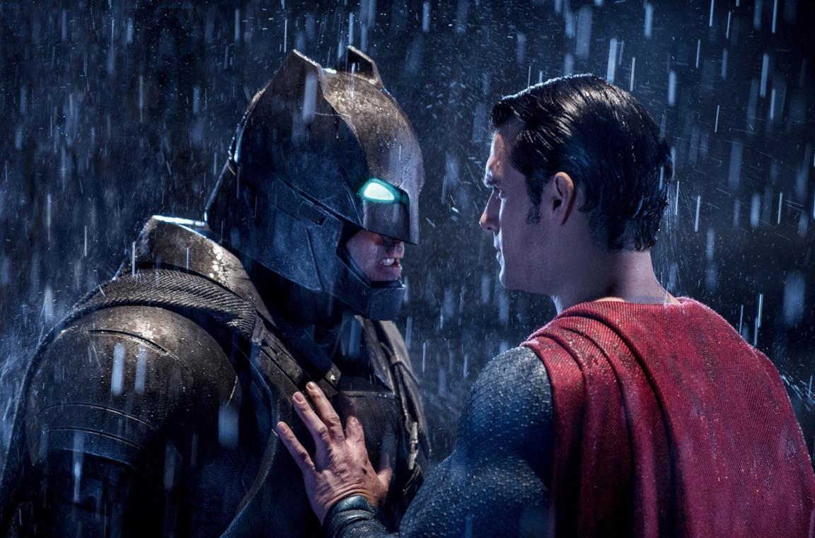 Batman e Superman in una scena del film Dawn of Justice