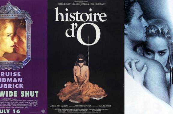 I poster di Eyes Wide Shut, Histoire d'O e Basic Instinct