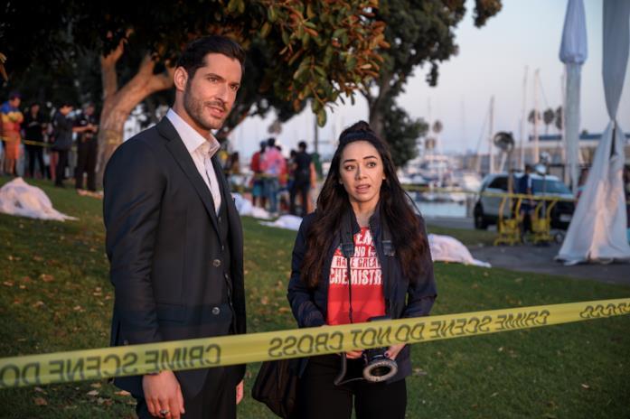 Ella e Lucifer sulla scena del crimine