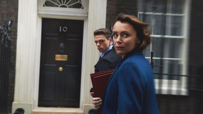 Richard Madden e Keeley Hawes in Bodyguard