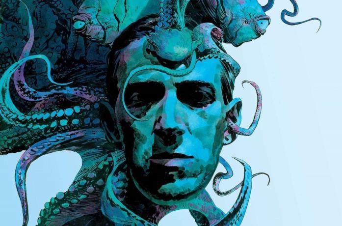 Un'illustrazione di H.P. Lovecraft