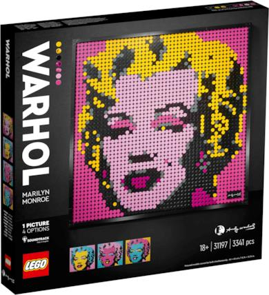 Marilyn Monroe di Andy Warhol LEGO Art