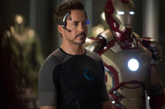 Un'immagine di Tony Stark in Iron Man 3