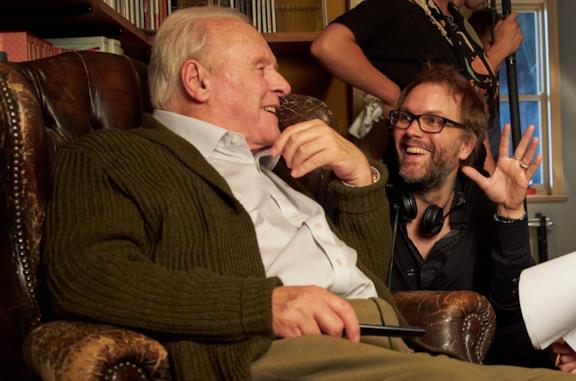 Anthony Hopkins sul set con Florian Zeller