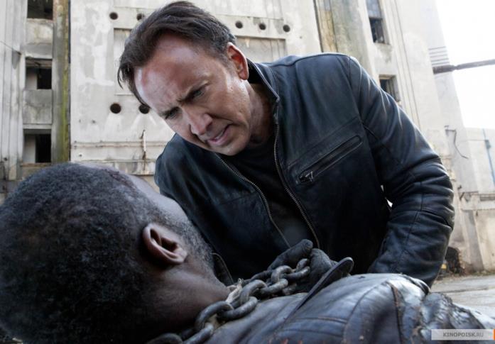Nicolas Cage in una scena di Ghost Rider - Spirito di Vendetta