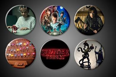 Stranger Things Magnets Set Netflix serie TV Show Winona Ryder Will Byers \xe8 mancante! Undici Supernatural 1 Inch Round