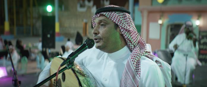 Il padre di Maryam durante un concerto