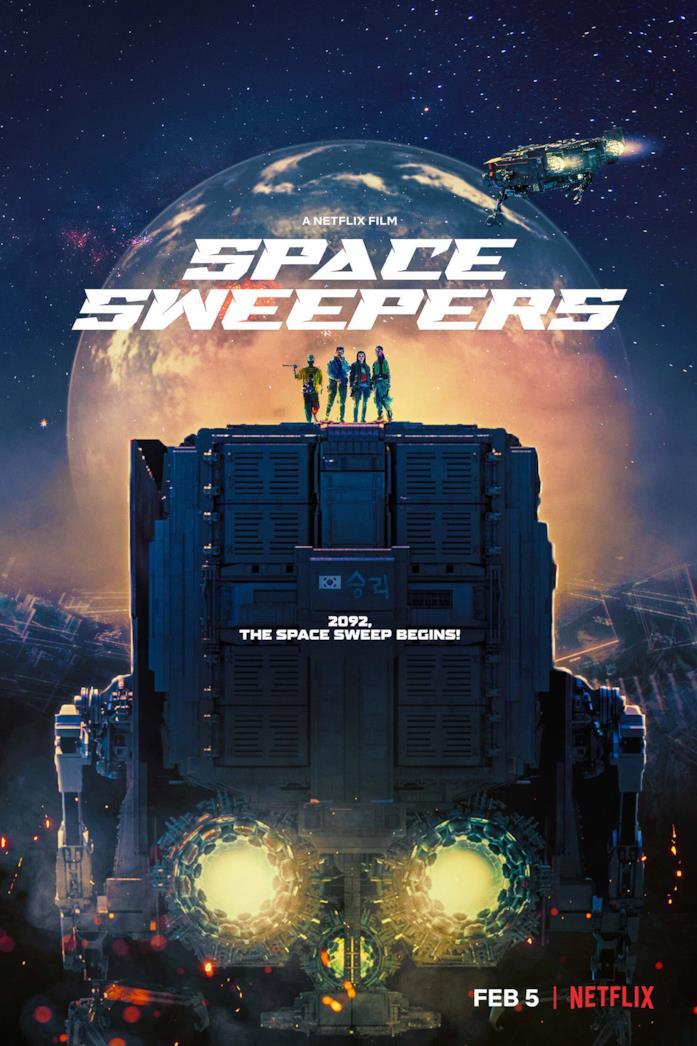Il cast nella locandina di Space Sweepers
