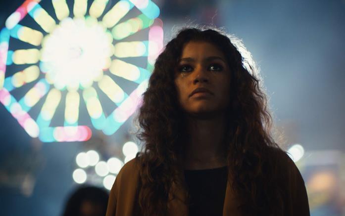 Zendaya in una scena di Euphoria