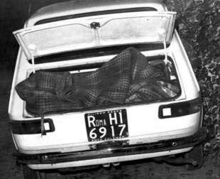 Bagagliaio dell'auto del massacro del Circeo