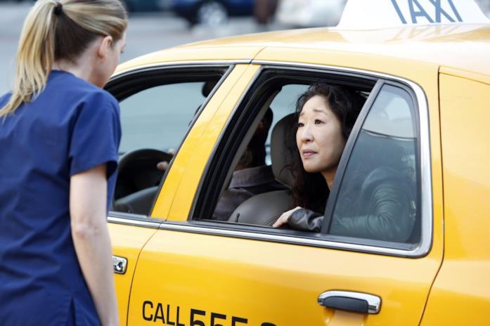 Il saluto finale tra Cristina e Meredith