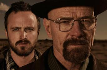 Walter White (Bryan Cranston) e Jesse Pinkman (Aaron Paul) in Breaking Bad