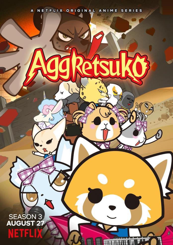 Aggretsuko personaggi terza stagione
