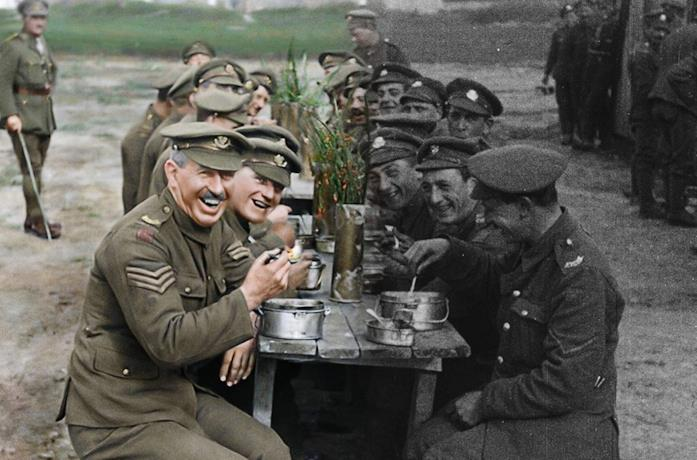 Un'immagine d'archivio del film They Shall Not Grow Old - Per sempre giovani