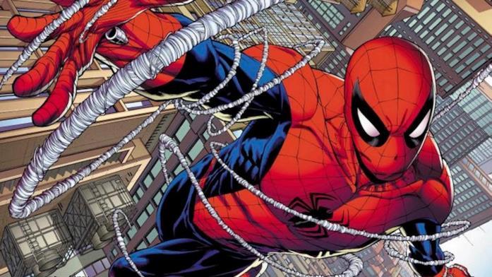 Spider-Man si muove tra i grattacieli con le ragnatele