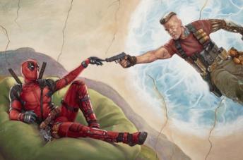 Deadpool e Cable in un artwork promozionale per Deadpool 2