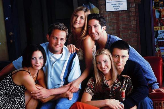 Il cast della serie TV Friends nella decima stagione