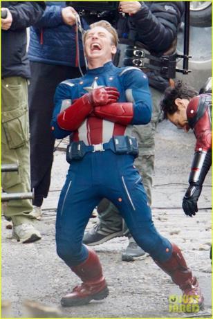 Un momento divertente sul set di Avengers 4