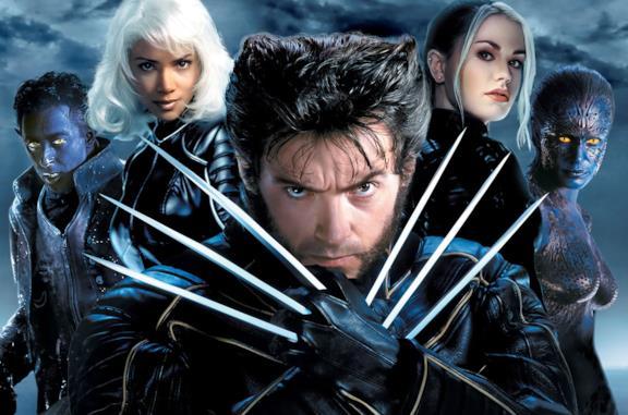 Poster promozionale di X-Men 2; Wolverine in primo piano